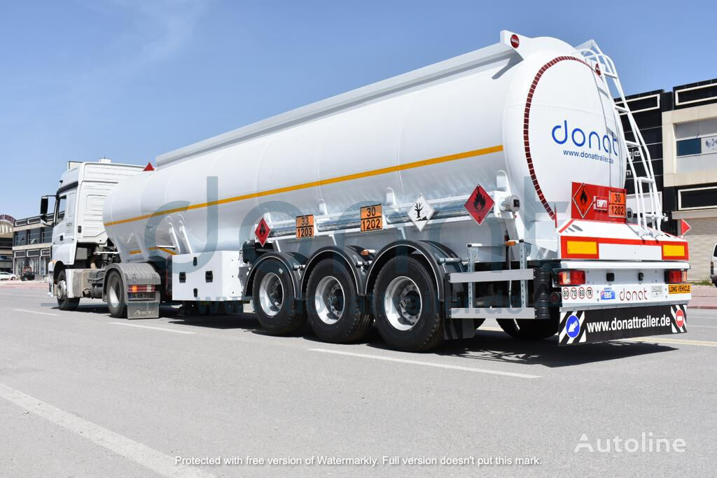 new DONAT Aluminum Fuel Tanker with Bottom Loading fuel tank trailer