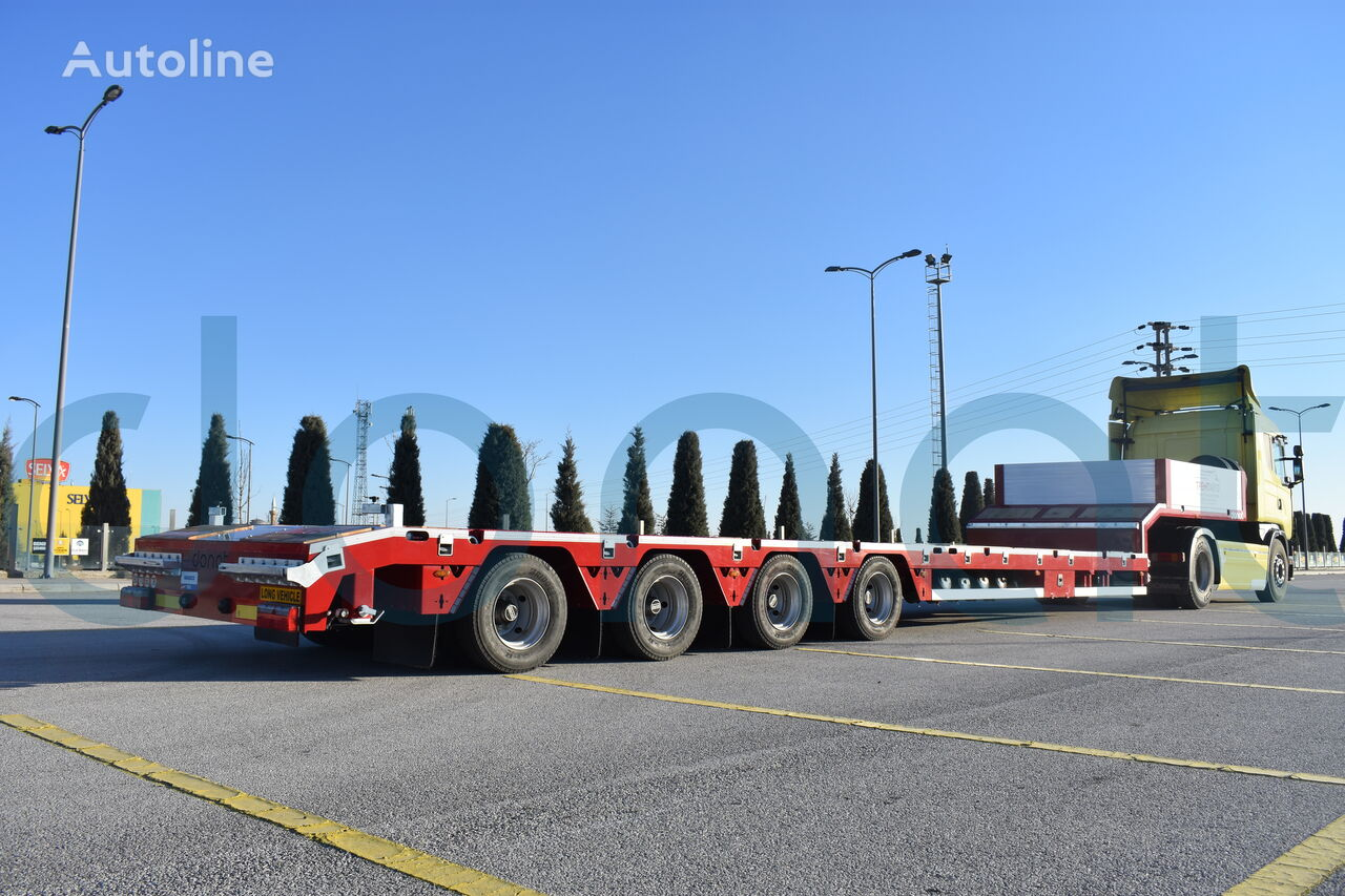 new DONAT 4 axle extendable lowbed low bed semi-trailer