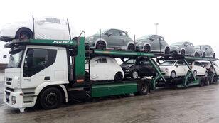 IVECO STRALIS 450 car transporter + car transporter trailer