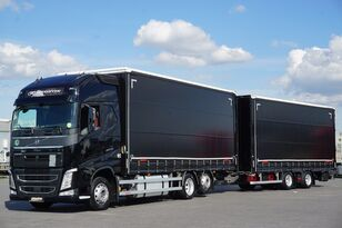 VOLVO FH / 460 / XXL / ACC / EURO 6 / ZESTAW PRZEJAZDOWY 120 M3 curtainsider truck + curtain side trailer