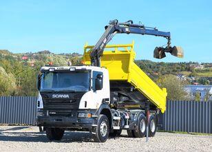 SCANIA P360 Kipper 4,80m + HIAB 166B-3 HIDUO *BORDMATIC  dump truck