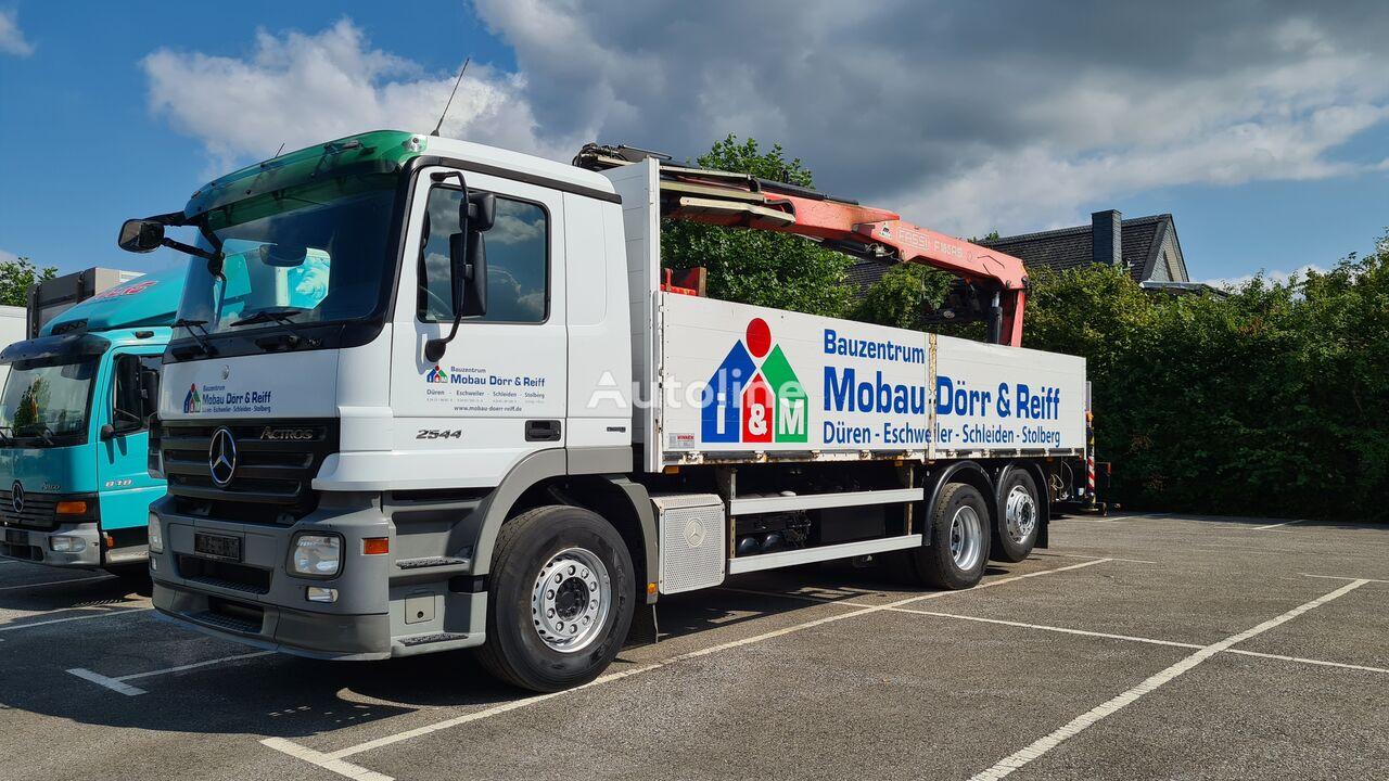 MERCEDES-BENZ Actros 2544 6x2 Pritsche  Kran Fassi F185 flatbed truck