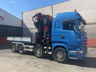 SCANIA R 480 palfinger 85002 + jib flatbed truck