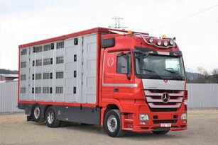 MERCEDES-BENZ ACTROS 2548 TIERTRANSPORTWAGEN 7,40m / 3STOCK livestock truck