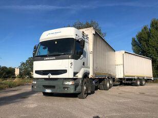 RENAULT PREMIUM 420 DCI + biga Omar + rimorchio centinato tilt truck
